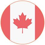 Flat icon drapeau canadien