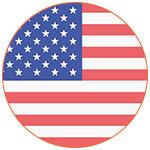 Flat icon drapeau américain