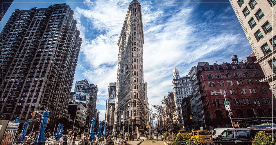 Le flat iron buiding à New York (USA)
