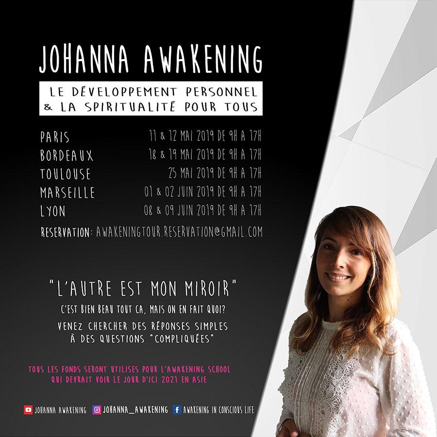 Flyer Awakening Tour 2019 en France