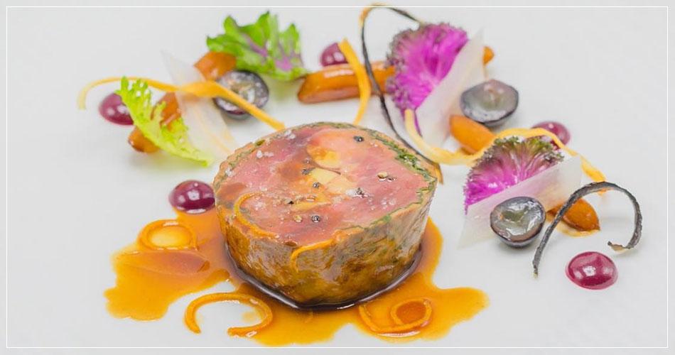 Foie gras du restaurant français Boulud à New York (USA)