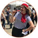 Jeune française dans le cadre du Festival Français d'Adelaïde