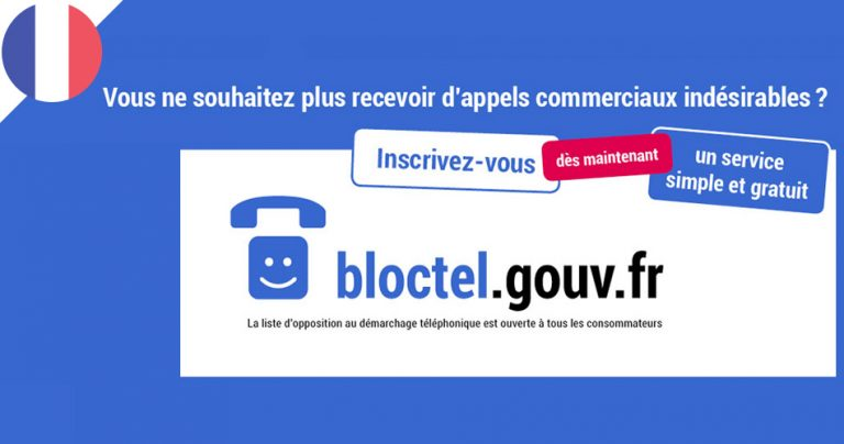 Information BLOCTEL.GOUV.FR - French Radar