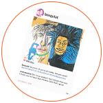 Peinture de Laurence de Valmy : Basquiat / Andy Warhol