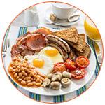 Présentation du petit déjeuner anglais : Full English breakfast