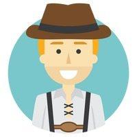 Illustration d'un homme avec costume allemand