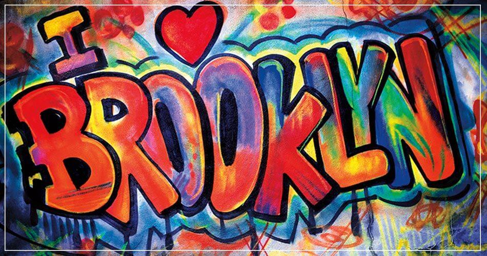 Graffiti très coloré Brooklyn