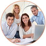 Groupe de quatre professionnels du Credit Score au USA