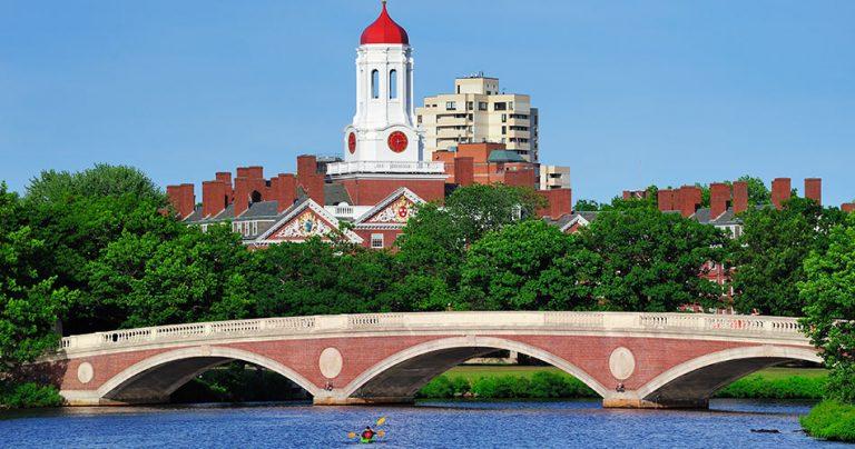 Paysage de l'Université d'Harvard aux USA