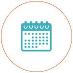 Icône d'un calendrier
