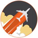 Illustration d'un avion dans les nuages