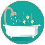 Illustration d'une baignoire parfumée