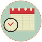 Illustration d'un calendrier et d'une horloge