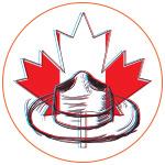 Illustration chapeau police canadienne et feuille d'érable
