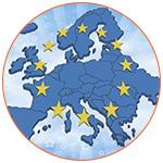 Illustration de la carte de l'Europe