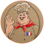 Illustration d'un Chef cuisinier français