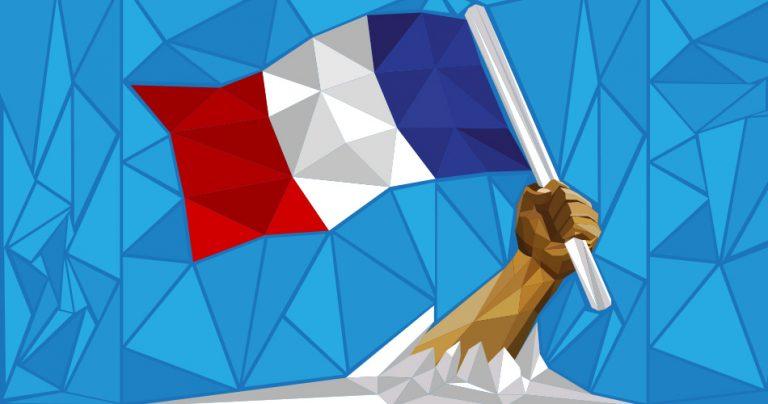 Illustration d'une main avec le drapeau français