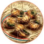 Illustration d'un plat d'escargots français
