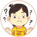 Illustration d'un garçon qui s'interroge