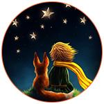 Illustration du Petit Prince avec son ami le renard