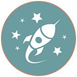 Illustration d'un navette spaciale dans l'espace avec des étoiles