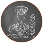 Illustration d'un officier des douanes