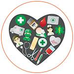 Illustration des différents services santé