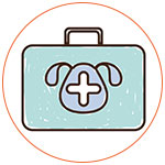 Illustration d'une valise vétérinaire pour chien