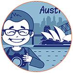 Illustration d'un visiteur à Sydney en Australie