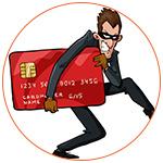 Illustration d'un voleur à la carte de crédit