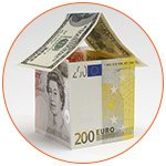 Maison en billets de banque