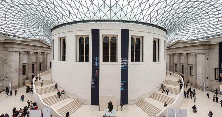 L'intérieur du Musée : The British Museum à Londres