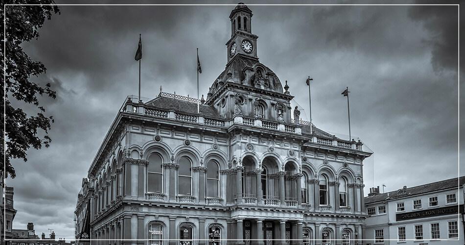Ipswich City Hall au Royaume-Uni