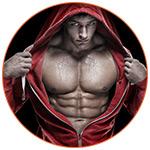 Jeune bodybuilder avec une imposante musculature.