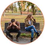 Jeune couple en crise de relation