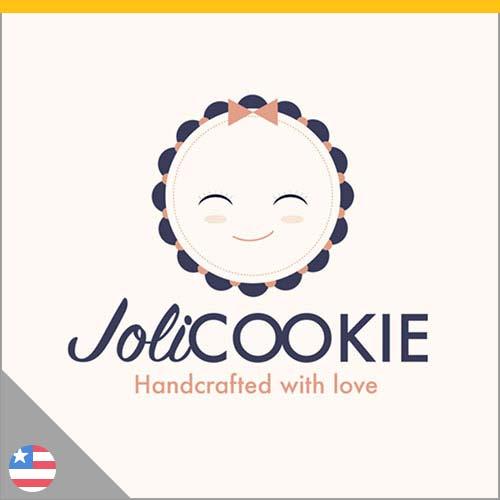 Logo pâtisserie française Joli Cookie