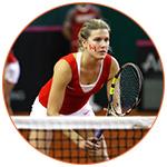 Joueuse de tennis de l'équipe canadienne.