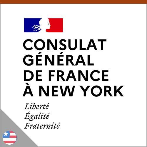 Logo consulat général de france à New York