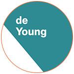 Le logo du Musée de Young à San Francisco (USA)