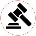 Picto logo marteau légal internet