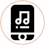Logo picto music internet
