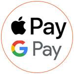 Les logos d'Apple Pay et Google Pay