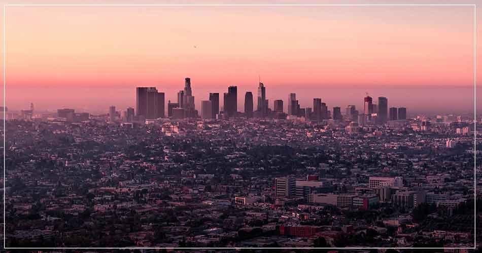 Vue panoramique de Los Angeles (USA)