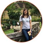 Lucie en visite dans un village anglais