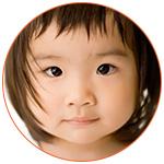 Visage d'une magnifique fillette asiatique