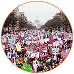Photo d'une manifestation à Washington DC aux USA