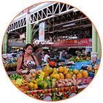 Marché tahitien en Polynésie française