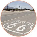Marquage au sol indiquant la route 66