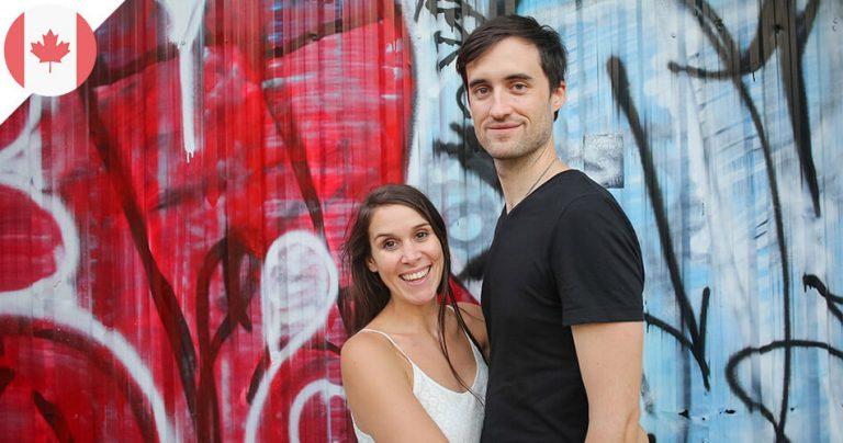 Mathilde et Mathieu, couple de français expatriés au Canada
