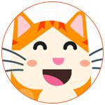 Merci Facteur, logo chat orange
